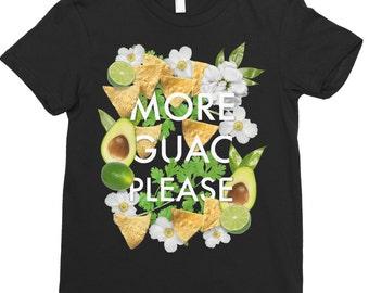 More Guac Please - Women's Shirt - Fun T-Shirt - Women T-Shirt - Guacamole T-Shirt - Funny T-Shirt - Food Shirt - Guac Shirt - Guacamole