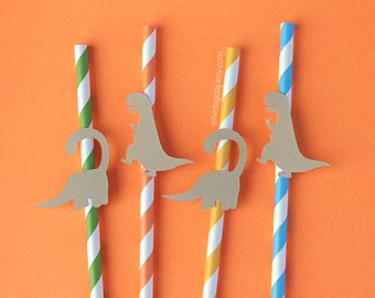 Dinosaur Straws-Dino Straws-Dinosaur party-Dinosaur birthday-Dinosaur-1st birthday-paper straws-striped straws-Dinosaur decor-Dinosaur decor