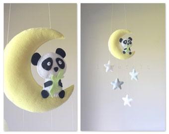 Baby mobile - Baby mobile bear - panda mobile - moon mobile