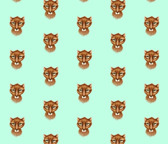 One Roll Wrapping Paper Mr Fox in Russet on Mint, Satin Gloss Gift Wrap Made to Order | Ships from USA