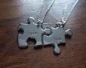 Best Friend Puzzle Pendants with Names 1