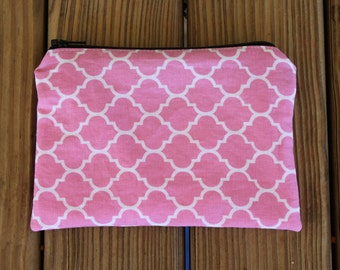 Reusable Snack Bag, Pink - ZIPPER Snack Bag