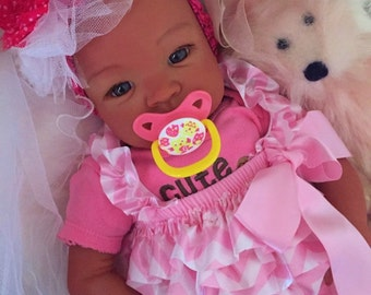 From the Biracial Shyann Kit  Reborn Baby Doll 19 inch Baby Girl Sherry Complete Baby Doll