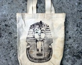 Tut Tote -- Large canvas tote decorated with the reknowned visage of Tutankhamun