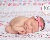 Floral Print Baby Headband - Baby Girl - Newborn Headband - Baby Girl Headbands - Baby Bow - Infant Headband - Newborn, Headband - Baby