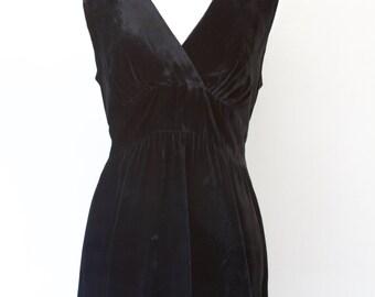 Black Velvet Mini Dress by The Cottager for Junior Petite