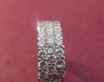 Elegant swarovski ladies crystal 925 ring