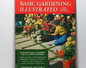 Gardening Book, Basic Gardening Illustrated, Sunset Book, Large Paperback, Vintage Book, Published 1969, Planting Flowers, How To Garden