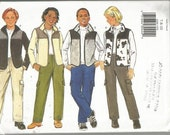 Pattern Simplicity #6288  Boy/Girls Jacket Vest & Pants  Size 7-10 Uncut