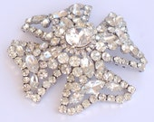 "Juliana Rhinestone Maltese Cross Massive 3"" Brooch"