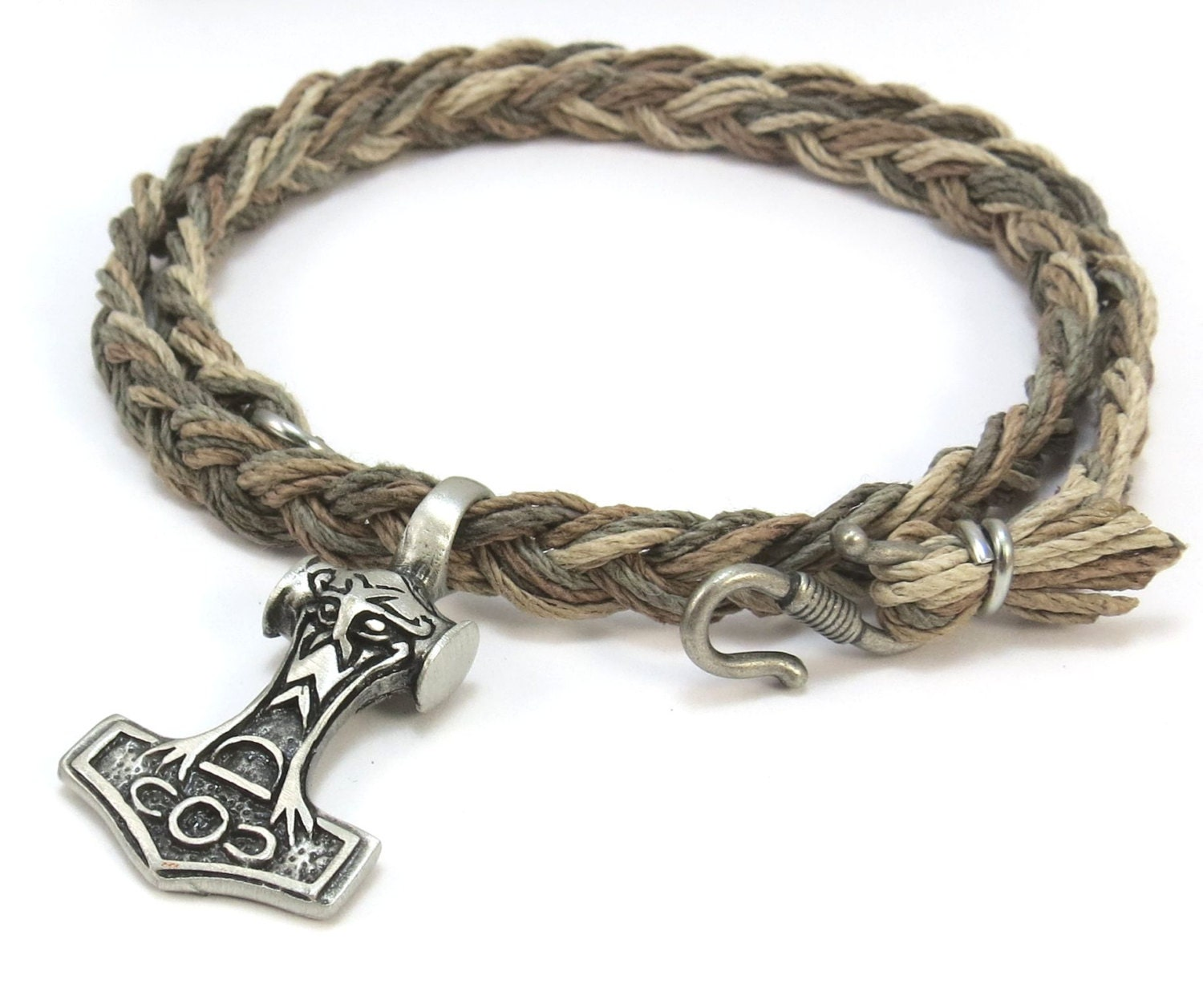 How To Make Hemp Necklaces: Mjolnir Pendant Viking Jewelry Hemp Necklace With By
