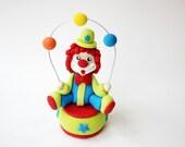 Fondant Circus Clown Topper - Fondant Clown - Circus Fondant - Circus Cake - Edible Clown