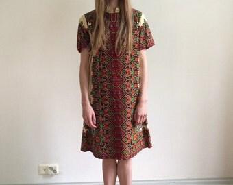 Boho Indian dress short cotton