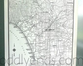 1939 Los Angeles California LA Vintage City Atlas Map