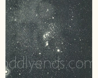 1950's Orion Constellation, Original Vintage Space Astronomy Print (ref556)
