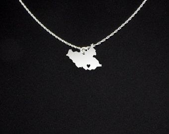 South Sudan Necklace - South Sudan Gift - South Sudan Jewelry