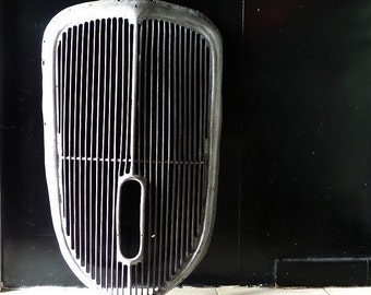 1940s Traction Avant Citroën Car Grill . French Vintage T.A Car Grille. Industrial Decor