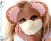 Mouse Mask PATTERN. Kids Mouse Costume Sewing Pattern