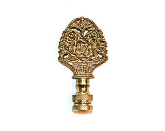 Flower Bouquet Lamp Finial Solid Brass Vintage Nicely Detailed