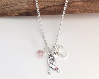 Personalized Breast Cancer Necklace