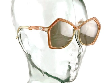 Vintage 1970s CHRISTIAN DIOR Oversized Mod Sunglasses