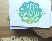 Happy Emerald Anniversary card