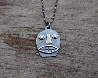 Silver Calavera pendant #2