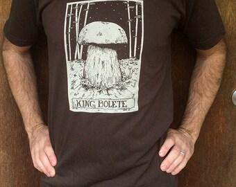 Porcini / King Bolete Hand Printed Shirt