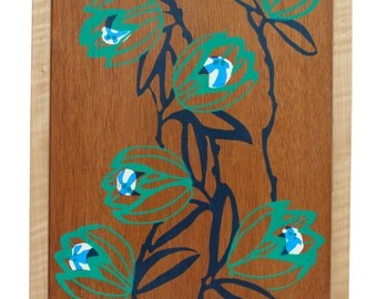 Floral Design On Mahogany