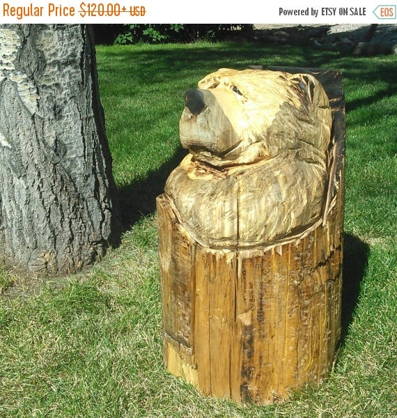 On sale chainsaw carved bear carving by