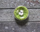 Hand Blown Glass Moss Nest