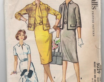 "1950's McCall's Dress and Jacket pattern - Bust 31"" - No. 5029"