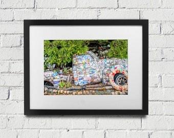 Key West Print Bo's Truck Florida Keys Key West Photography Print Art