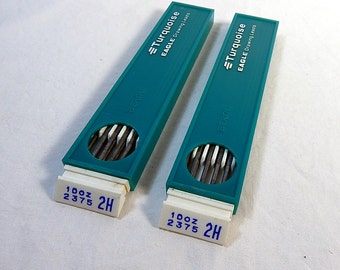 Eagle Turquoise Drawing Leads 2H 2375 22 Leads Vintage Drafting Art Supply