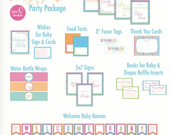 Baby Sprinkle Baby Shower PRINTABLE Party - INSTANT DOWNLOAD