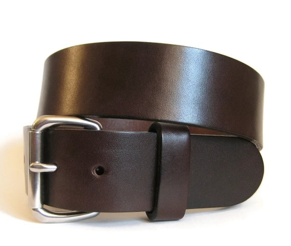 mens brown leather belt handmade bridle by angelleathershop