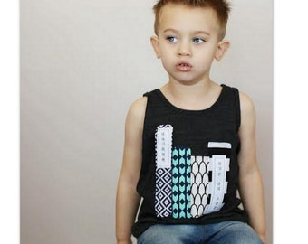 "Swanky Shank Father's Day Tank ""Reading with Dad"""