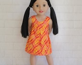 Simply Sweet Orange Red Sleeveless Summer Dress - Dolls Clothes to fit Australian Girls dolls only