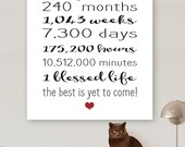 20 Year Anniversary Gift Sign 20th ANNIVERSARY Quick Gift Card DiY Personalize LARGE POSTER Party Banner Printable Digital File 8x10 20x24