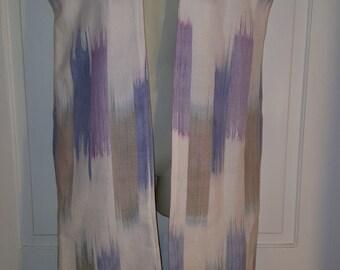 80's SAMELSON ABRAMS DUSTER // Full Length Kimino Jacket Coat Pastel Avant Garde Simple Modern New Wave Purple Blue White Size S Photo Shoot