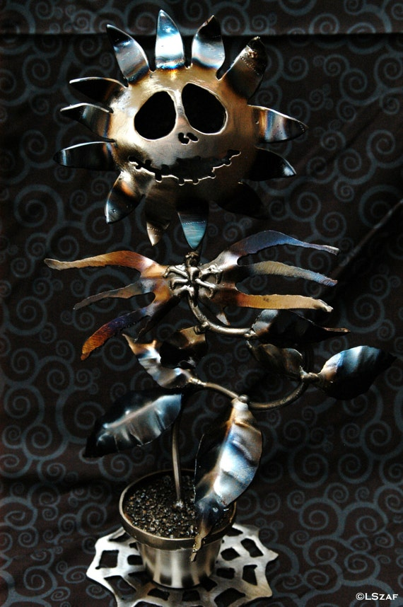 Nightmare before Christmas- Jack Skellington- table art sculpture- metal table sculpture- gift for millennial- metal table art- oogie boogie