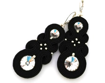 Soutache earrings - black earrings - birthday gift for girlfriend - Gift for wife - Gift for daughter - Gift for sister - wholesale jewelry