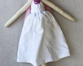 Vivian Ragdoll: Vintage,Recycled Materials,Cloth Doll,Ragdolls,Cloth Handmade Dolls,Pin Doll, Ballerina Doll