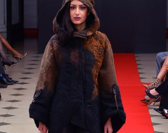Felted Parka Template. DC FASHION WEEK 2015. For felting with instructions.