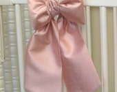 Mini Crib Bows: nursery bows, small bow for cots, neutral baby bedding, baby girl bedding, faux silk curtain tie back, Custom Made to Order
