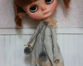 Reserved - Winter Couture - Overalls - For Blythe Doll