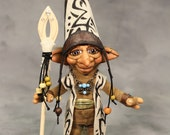 Reserved for Lisa//Troll Wizard, OOAK Fantasy Art Doll Collectable