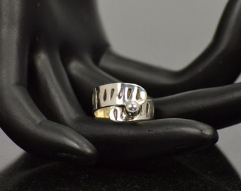 Stamped Sterling Ring