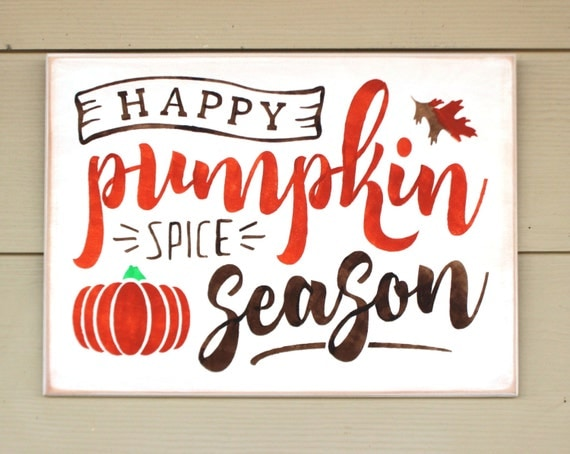Fall Sign - Autumn Decor - 12 x 16 - Happy Pumpkin Spice Season - Autumn sign - Fall Decor - Pumpkin sign -  Painted Wooden sign -  Pumpkins