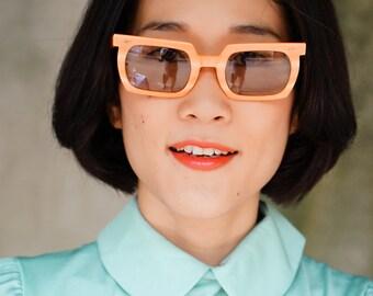 Vintage Sunglasses American Optical Company Neon orange Color Very Rare 1960's Oldstock Frames.
